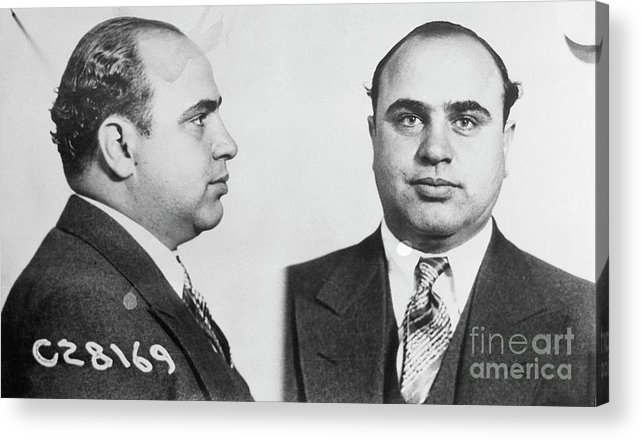 Gangster Acrylic Print featuring the photograph Mugshot Of Gangster Al Capone by Bettmann