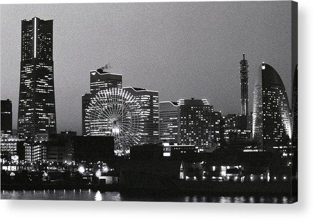 Yokohama Acrylic Print featuring the photograph Night Scene Of Yokohama by Snap Shooter Jp