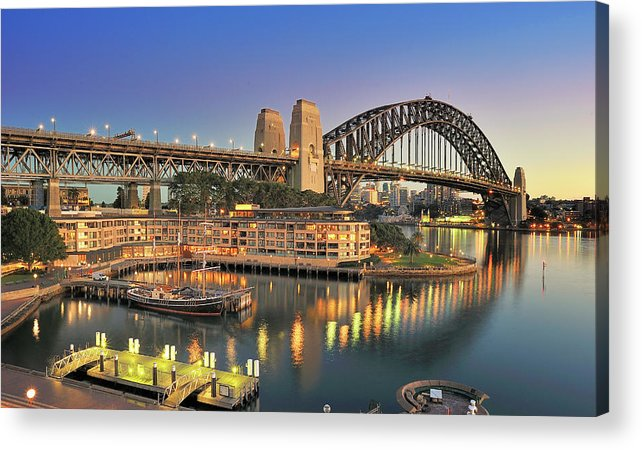 Built Structure Acrylic Print featuring the photograph Sydney Harbour Bridge by Warwick Kent