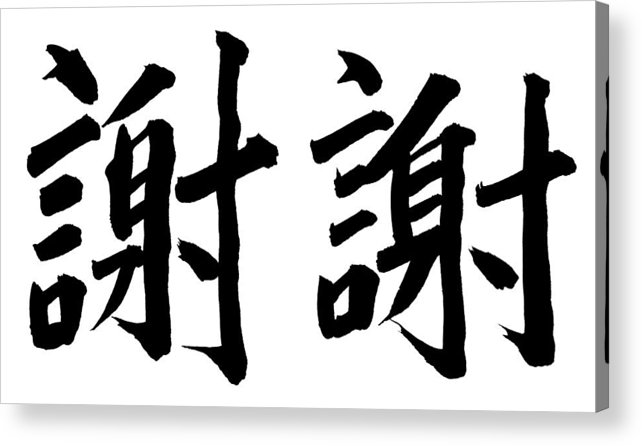 Thank You Acrylic Print featuring the photograph Thank You In Chinese by Blackred
