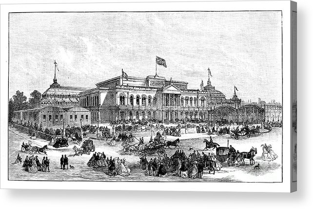 Event Acrylic Print featuring the drawing The International Exhibition, Dublin by Print Collector