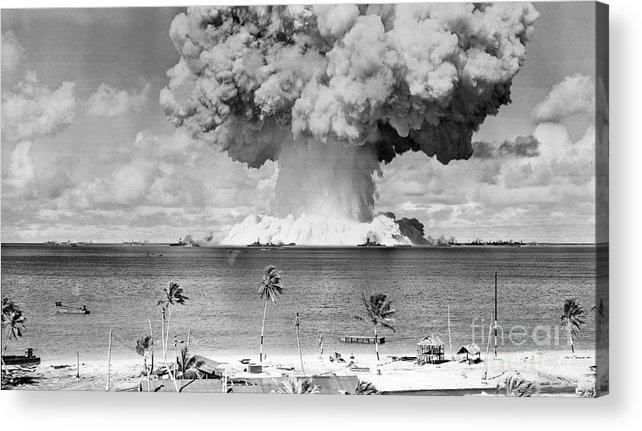 Air Pollution Acrylic Print featuring the photograph U.s. Atomic Bomb Test At Bikini Atoll by Bettmann
