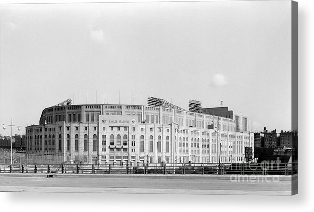 American League Baseball Acrylic Print featuring the photograph Yankee Stadium by Olen Collection