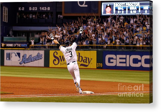 American League Baseball Acrylic Print featuring the photograph Evan Longoria by J. Meric