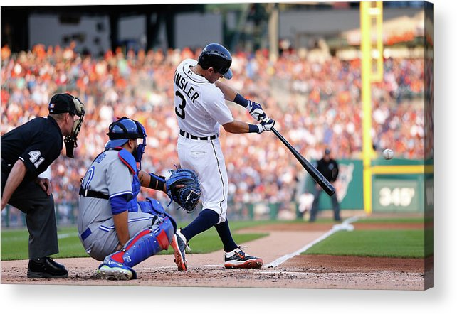 People Acrylic Print featuring the photograph Ian Kinsler by Leon Halip