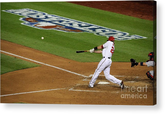 Playoffs Acrylic Print featuring the photograph Jayson Werth by Patrick Mcdermott