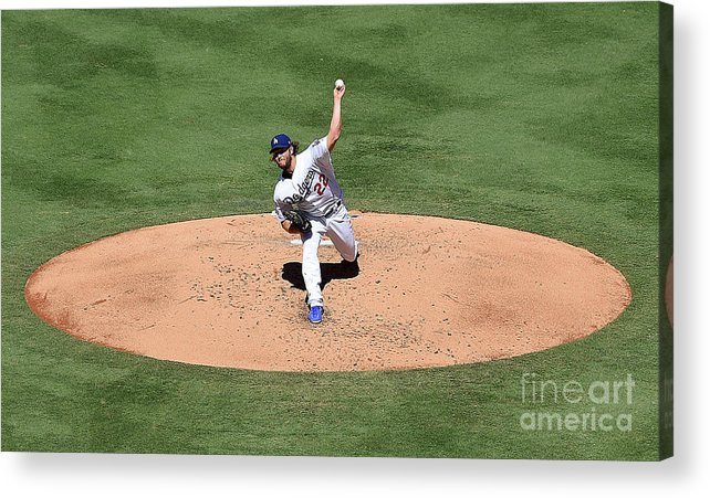 People Acrylic Print featuring the photograph Clayton Kershaw by Jayne Kamin-oncea