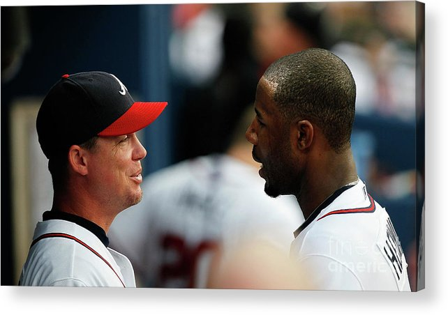 Atlanta Acrylic Print featuring the photograph Chipper Jones and Jason Heyward by Kevin C. Cox