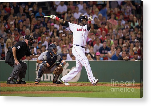 People Acrylic Print featuring the photograph David Ortiz by Rich Gagnon