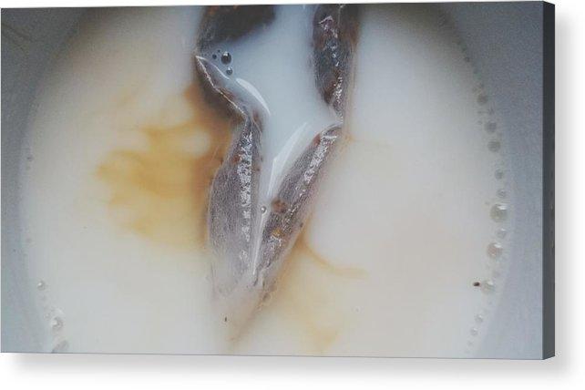 Milk Acrylic Print featuring the photograph Detail Shot Of Drink by Roman Pretot / EyeEm