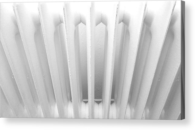 Side By Side Acrylic Print featuring the photograph Full Frame Shot Of Radiator by Roman Pretot / EyeEm