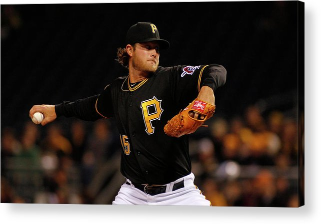 Gerrit Cole Acrylic Print featuring the photograph Gerrit Cole by Justin K. Aller