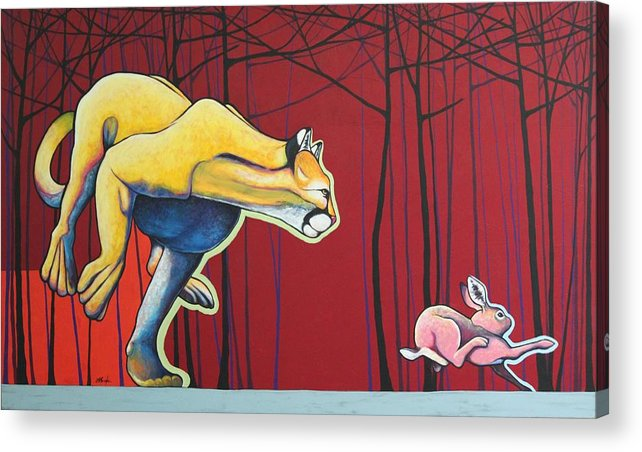 Wildlife Acrylic Print featuring the painting Get To The Trees by Joe Triano
