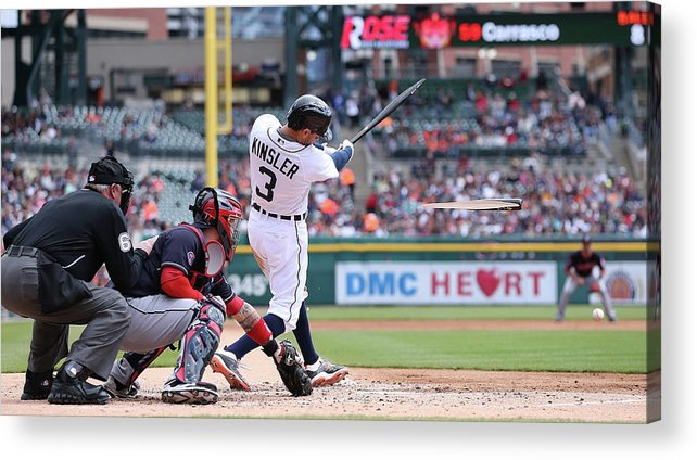 American League Baseball Acrylic Print featuring the photograph Ian Kinsler by Leon Halip