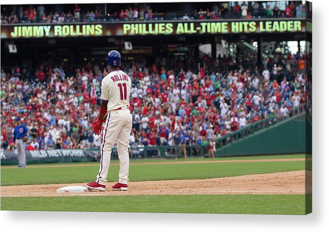 Citizens Bank Park Acrylic Print featuring the photograph Jimmy Rollins by Mitchell Leff