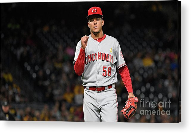 Three Quarter Length Acrylic Print featuring the photograph Luis Castillo and Chris Stewart by Justin Berl