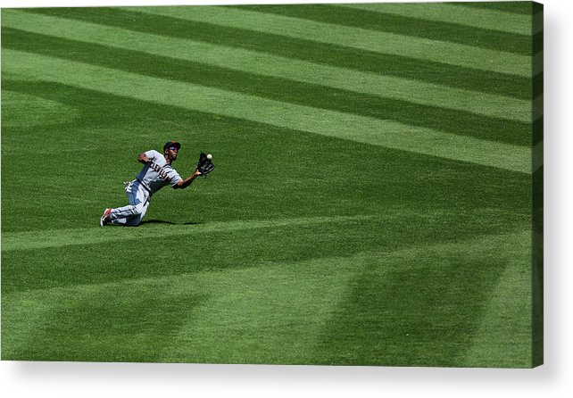 People Acrylic Print featuring the photograph Michael Bourn and Alex Gordon by Ed Zurga