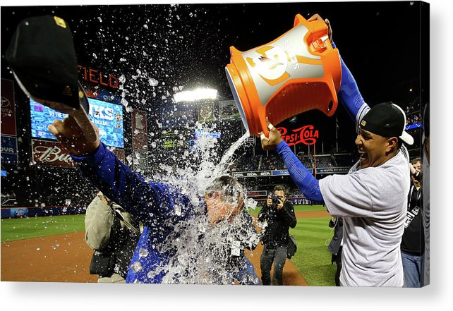 Salvador Perez Diaz Acrylic Print featuring the photograph Ned Yost by Al Bello