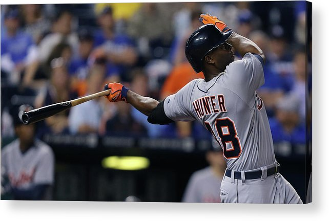 Ninth Inning Acrylic Print featuring the photograph Torii Hunter by Ed Zurga