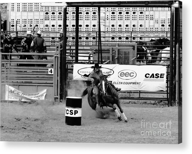 Rodeo Acrylic Print featuring the photograph Barrel Racer by Susan Chandler