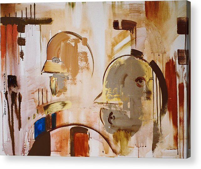 Abstract Acrylic Print featuring the painting What is Identity by Stephen Lucas