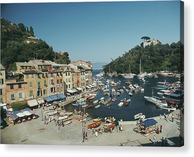Scenics Acrylic Print featuring the photograph Portofino Harbour by Slim Aarons