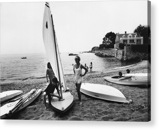 Child Acrylic Print featuring the photograph Sailboat by Slim Aarons