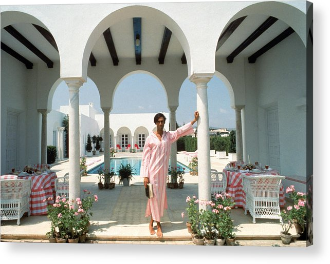 Arch Acrylic Print featuring the photograph Villa In Sotogrande by Slim Aarons