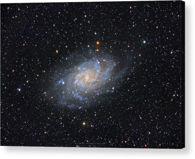 Galaxy Acrylic Print featuring the photograph Triangulum Galaxy by Prabhu Astrophotography