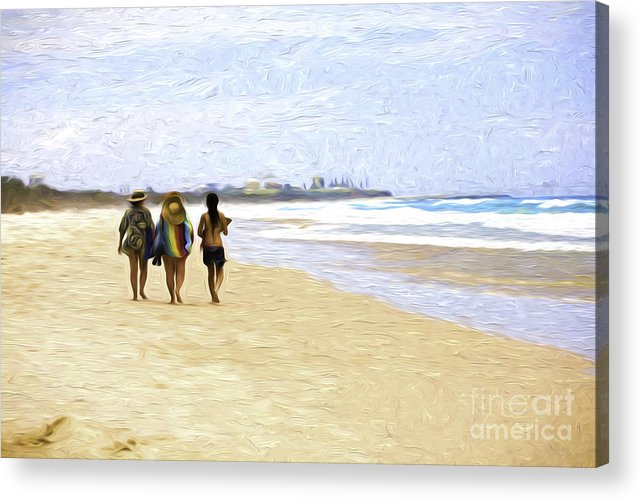 Australia Acrylic Print featuring the photograph Summer at Fingal by Sheila Smart Fine Art Photography