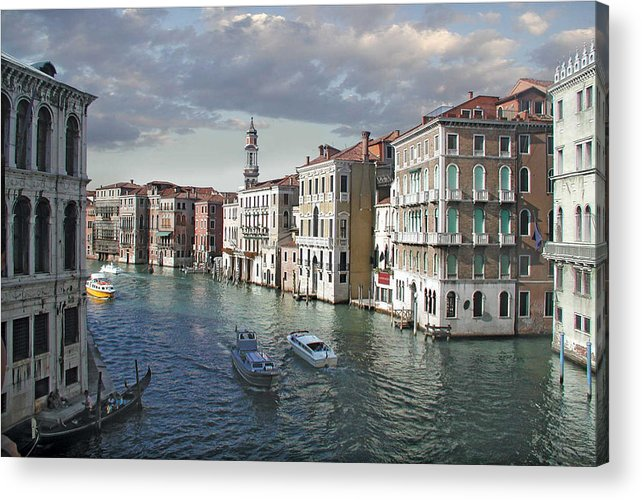 Grand Canal Acrylic Print featuring the digital art Grand Canal by Harold Shull