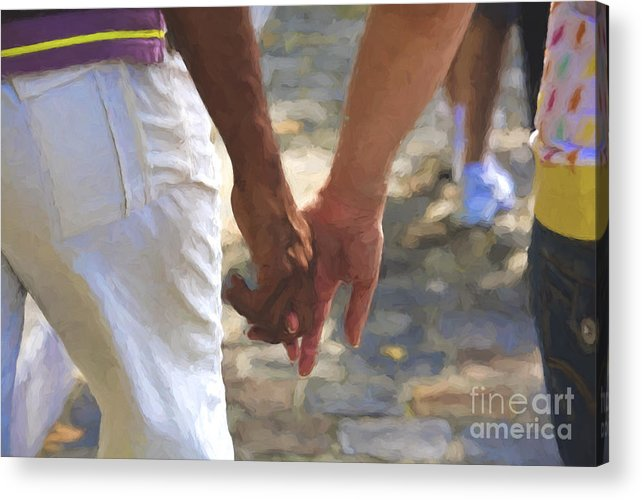Hands Acrylic Print featuring the photograph Hand in hand by Sheila Smart Fine Art Photography