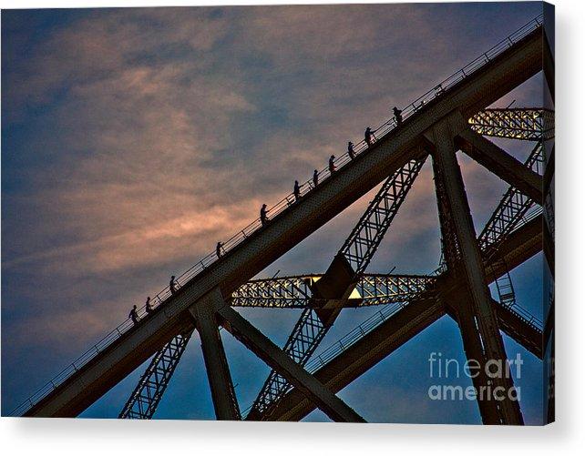 Sydney Acrylic Print featuring the photograph Sydney Bridgeclimbers by Sheila Smart Fine Art Photography