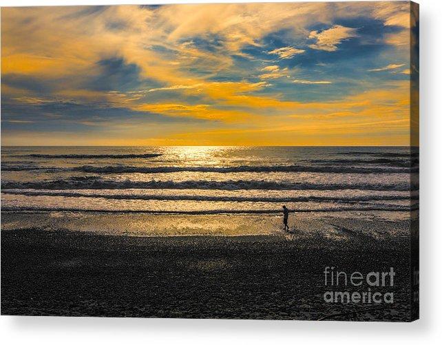 Tasman Acrylic Print featuring the photograph Tasman Sunset by Sheila Smart Fine Art Photography