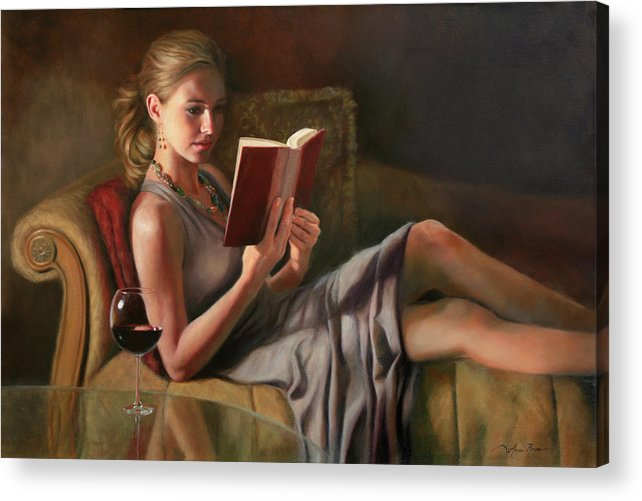 Oil Portrait Acrylic Print featuring the painting The Perfect Evening by Anna Bain