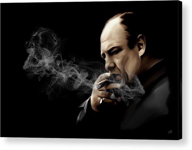 Tony Soprano Acrylic Print featuring the digital art Tony Soprano by Laurence Adamson