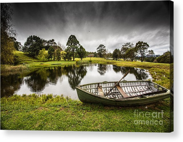 Dinghy Acrylic Print featuring the photograph Messing about in a boat by Sheila Smart Fine Art Photography