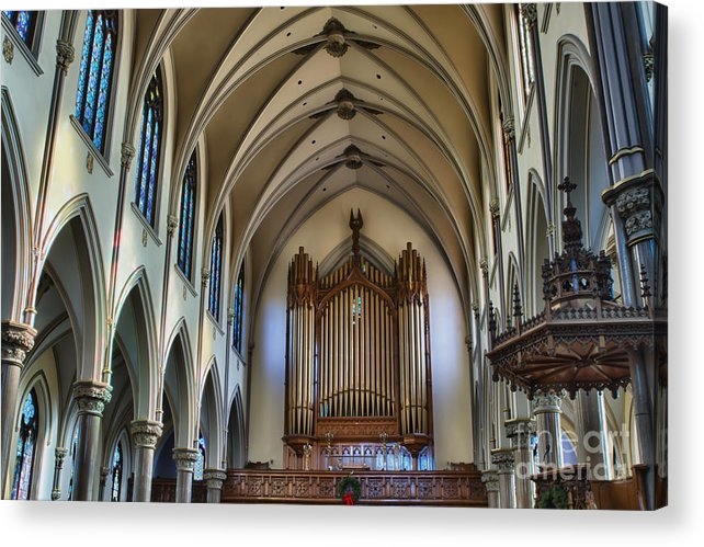Acrylic Print featuring the photograph St Louis Church 13 by Chuck Alaimo