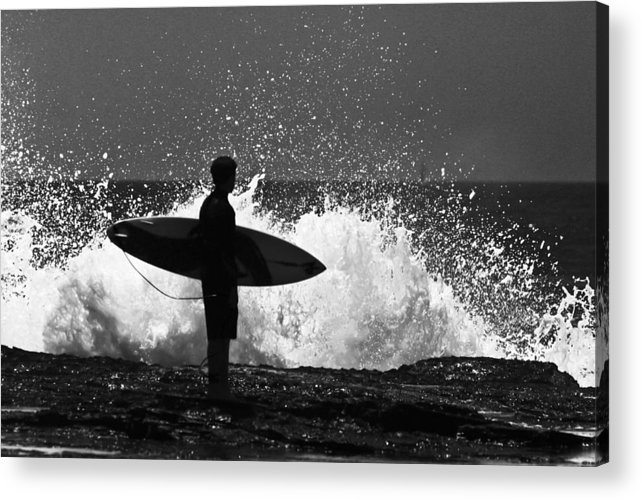 Surfer Acrylic Print featuring the photograph Anticipation by Sheila Smart Fine Art Photography