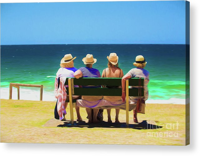 Ladies In Hats Acrylic Print featuring the photograph Ladies day out by Sheila Smart Fine Art Photography