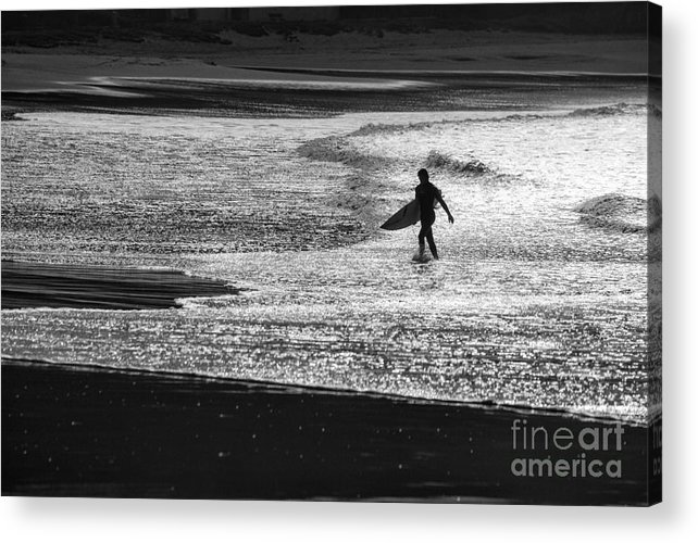 Surfer Acrylic Print featuring the photograph Last wave by Sheila Smart Fine Art Photography
