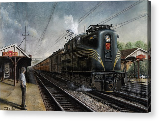 Trains Acrylic Print featuring the painting Mainline Memories by David Mittner