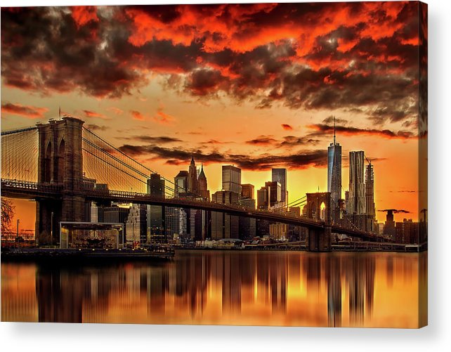 New York City Acrylic Print featuring the photograph Manhattan BBQ by Az Jackson