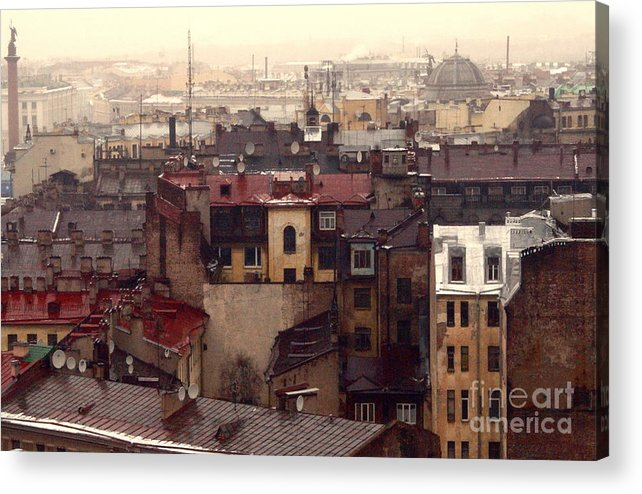 Buildings Acrylic Print featuring the photograph Old old city by Vadim Grabbe