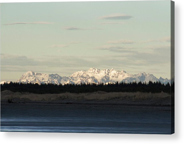 Olympic Mountains Acrylic Print featuring the photograph Olympic Mountains by Cheryl Day