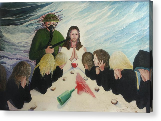 Religious Acrylic Print featuring the painting The Dream by Georgette Backs