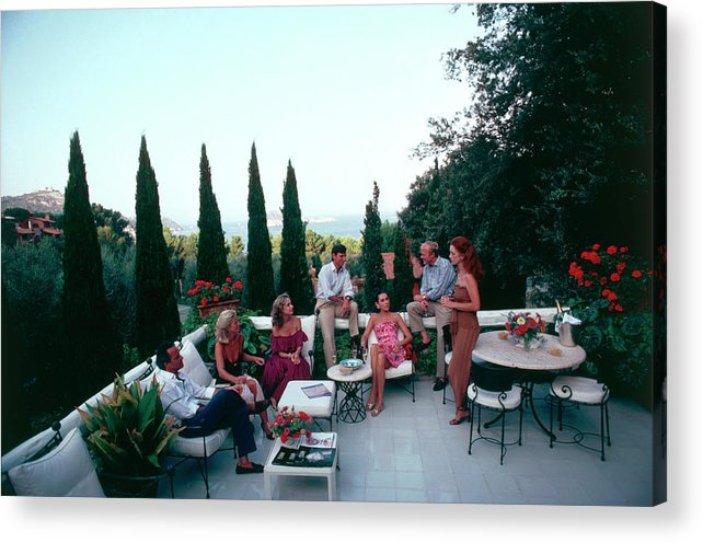 1980-1989 Acrylic Print featuring the photograph Porto Ercole by Slim Aarons