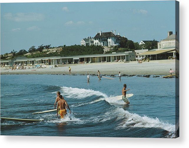 Lifestyles Acrylic Print featuring the photograph Rhode Island Surfers by Slim Aarons