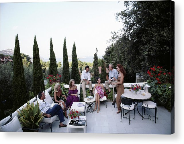 1980-1989 Acrylic Print featuring the photograph Scio Family Villa by Slim Aarons