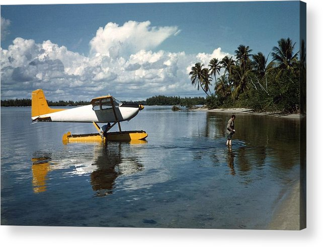 People Acrylic Print featuring the photograph Arriving In Style by Slim Aarons